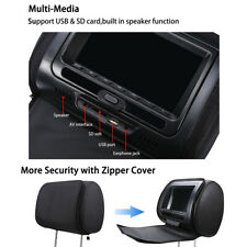 "7"" HD Car Digital Monitor Video Headrest DVD Player HDMI Game USB TV IR"