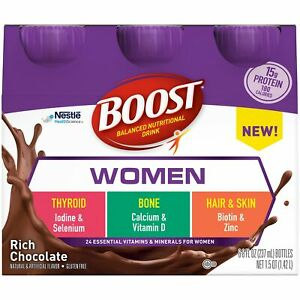 Oral Supplement Boost Women Rich Chocolate 8 oz. Container Bottle (Case of 24)