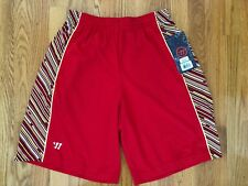 Mens Warrior Sports Athletic Gym Exercise Red Fitness Shorts Small S