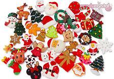 NEW 2018 Christmas Cabochon Set Kit Mix Kawaii Decoden Craft - CHOOSE AMOUNT- UK