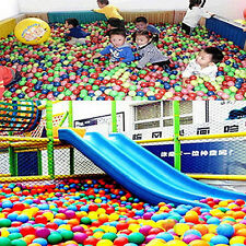 50PCS 5.5cm Swim Fun Colorful Soft Plastic Ocean Ball Secure Baby Kid Pit Toy H