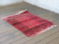 60er Handgeknüpfter Teppich Kelim Carpet Rug (140cm x100cm) Wolle 70er Orient 17
