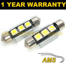 2X WHITE CANBUS NUMBER PLATE INTERIOR SAMSUNG SMD LED BULBS 30 36 39 42 44MM OH