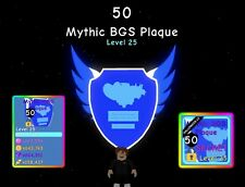 BUBBLE GUM SIMULATOR MYTHIC BGS PLAQUE (1 IN 300 MILLION) FAST DELIVERY/CHEAPEST