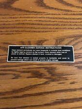 Rare Old John Deere 140,120,112,110 Air Cleaner decal