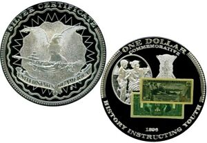 1899 $1 SILVER CERTIFICATE BLACK EAGLE COMMEMORATIVE COIN PROOF VALUE $99.95
