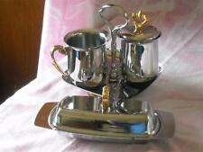Vintage Mid Century Kromex Table Set, Sugar, Creamer, Tray & 3PC Butter Dish