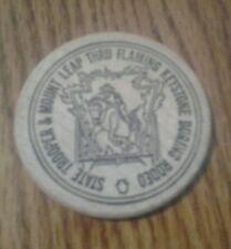 SOUVENIR WOODEN DOLLAR PA. NATIONAL GUARD ARMORY 1988  COIN SHOW TOKEN