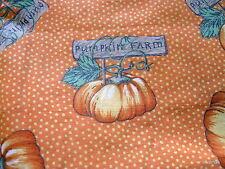 Oakhurst Textiles Halloween Pumpkin Primitive cotton fabric half yard cut 1/2
