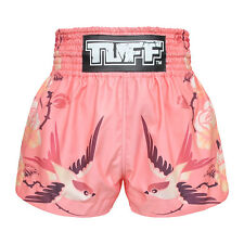 Women Muay Thai Boxing Shorts Trunks Pink Lady Fighting Gym