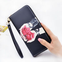 FM- Women's Flower Print Long Wallet Card Bag Coin Holder Purse Lady Clutch Chea
