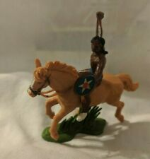 BRITAINS HERALD SWOPPET WW Wild West Indian Mounted With Shield