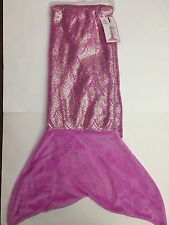 31d2393535 NWT JUSTICE GIRLS ORCHID MERMAID TAIL BLANKET SOFT PLUSH PURPLE SLEEPING BAG