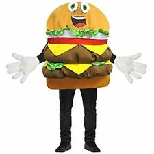 Rasta Imposta Adult Waver Mascot Cartoon Costume - Cheeseburger w/ Yellow Hands