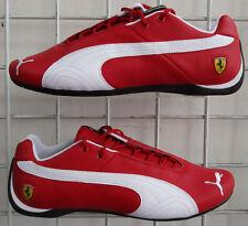 Men's Puma Ferrari Future Cat, New Red White 10th anniversary Walking Shoes 8.5
