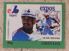 1988 Grenada Baseball Stamp Hubie Brooks Expos