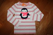 NWT Gymboree Polar Pink Size 3T Pink Striped Penguin in Scarf Shirt Top