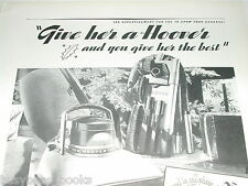 1937 HOOVER advertisement, give your wife a gift-wrapped vacuum for Christmas
