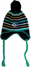 NEW Mens CONNACHT RUGBY HAT Winter Mens Ear Flaps Bobble Beanie Cap Fleece Lined