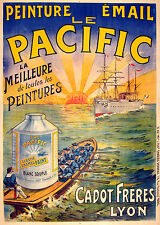 Le Pacific Paint, 1900 Vintage French Advertising Poster Canvas Print 20X28