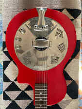 National Res-o-tone Acoustic Electric Resonator Guitar, Red w/Lollar PU + OHSC