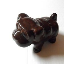 Bank Money Coin Piggy Pet Dog Doggy Puppy Pup Decor Canine Ceramic Brown
