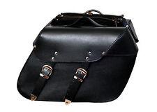 13000 Motorcycle Leather Biker Saddle Pannier Bag Chopper