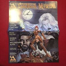Medieval Lady Death More Than Mortal Signed Poster Brian Pulido & Sharon Scott
