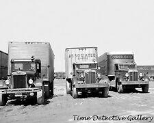 Semi Trucks Lined Up - 1935 - Historic Photo Print