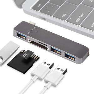 Hub USB Type C Adaptateur 5 en 1 MacBook Pro Après 2006 Ports USB SD Micro SD