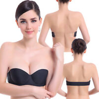 2019 Transparent Back Push Up Bra Strap Invisible Bras Women Underwire 1/2 Cup
