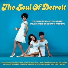 THE SOUL OF DETROIT -  75 ORIGINAL SOUL GEMS FROM MOTOWN VAULT (NEW SEALED 3CD)