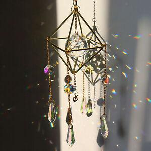 Rainbow Sun Catcher Hanging Crystal Suncatcher Home Wedding Window Decor