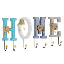 Nordic Letters Hanging Rack Wall-Mounted Key Holder Home Decor 7 Hooks