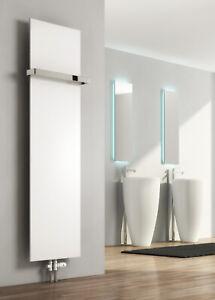 REINA SLIMLINE FLAT PANEL VERTICAL DESIGNER RADIATORS TOWEL BAR OPTIONS