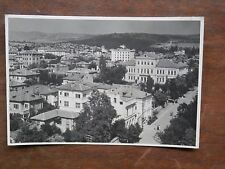 Vecchia foto cartolina d epoca di Stara Zagora città bulgara palazzi colline per
