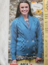 08a014f30 Ladies Cable Jacket Cardigan Knitting Pattern Magazine Extract