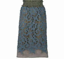 Carven Blue Lace Pencil Skirt Size 38