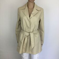Eddie Bauer Beige Single Breasted Belted Trench Coat Fully Lined Size XS (BE19)