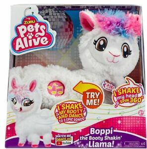 ZURU PETS ALIVE BOPPI THE BOOTY SHAKIN' LLAMA BATTERIES INCLUDED ROBOTIC TOY