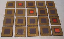 Lot of 20 (0.79 oz) ~ Scrap ceramic AMD CPU Processors for Gold Recovery    FS