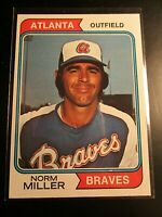 1974 Topps #439 Norm Miller NmMt, High Grade unmarked, Atlanta Braves