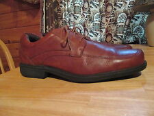 Mens ROCKPORT Brown Leather Lace Comfort Walking Dress Casual Shoes Sz 10 M