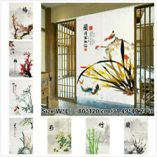 Noren Doorway Curtain Chinese Plum Blossoms Room Divider Blind Hanging Home Arts