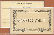 60075  - ITALIA  - STORIA POSTALE  -  FRANCHIGGIA MILITARE - IGNOTO MILITI