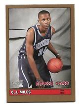C.j. miles - 2005-06 bazooka oro paralelo set - #192 - Rookie Card