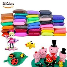 BBLIKE 36 Colours Air Dry Clay,Ultra Soft Polymer Clay Soft Modeling Craft Plast
