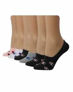 Champion Women's Athletics Invisible Liner Socks C Logo, 6-pairs