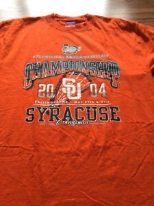 Syracuse Orangemen 2004 Lacrosse Championship Large T-shirt Champion Orange
