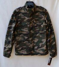 NWT Tony HAWK Military Green Camo Sherpa lined Men's Jacket Sz M
